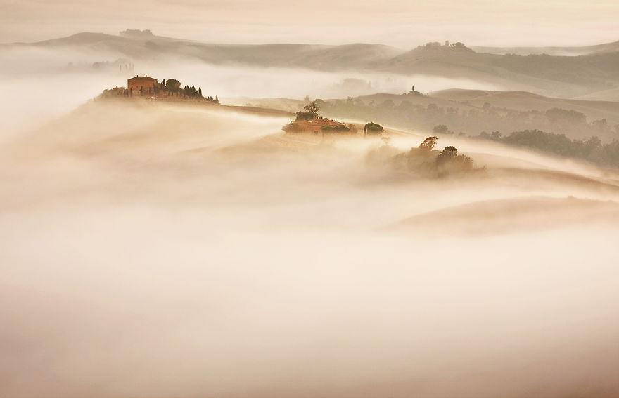Красота природы Тосканы на фотографиях