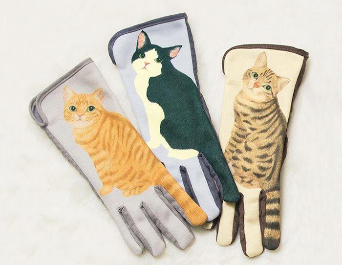Перчатки для смартфонов с кошачьими хвостиками