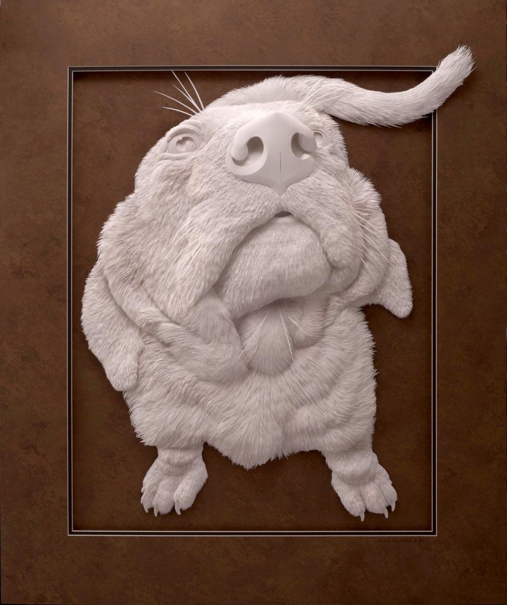Изящные скульптуры животных из бумаги
