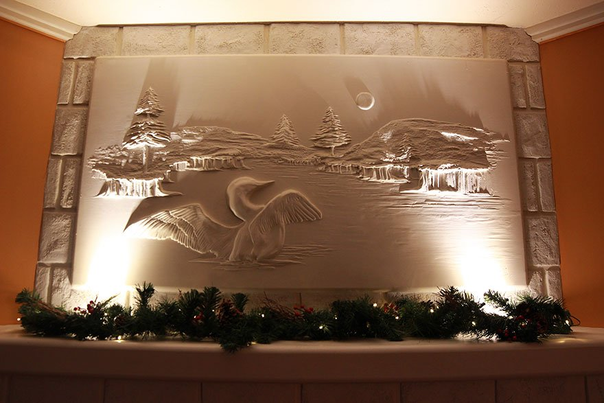 Объёмные настенные рисунки от Берни Митчелла