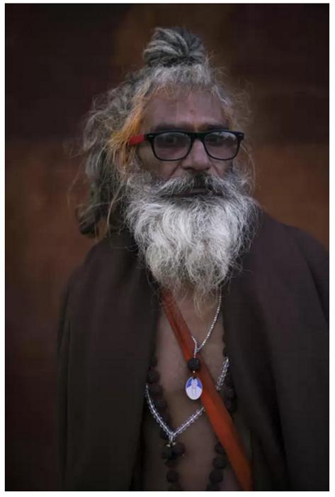 Портреты паломников с фестиваля Кумбха-мела в Индии