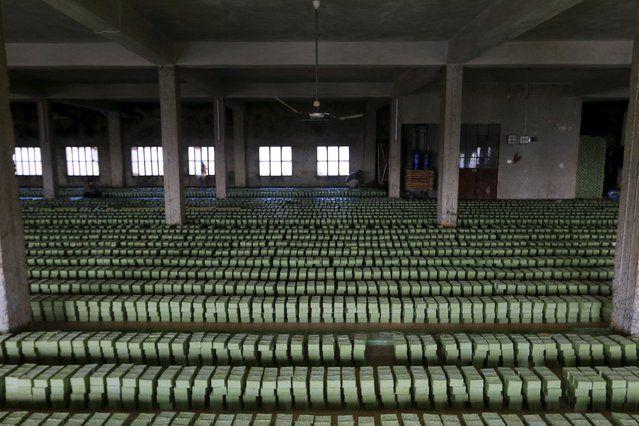 Производство оливкового мыла в Сирии