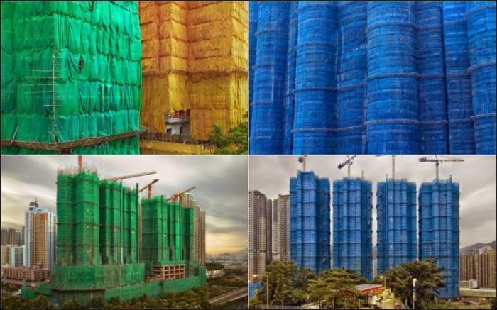 Строительные коконы в Сингапуре