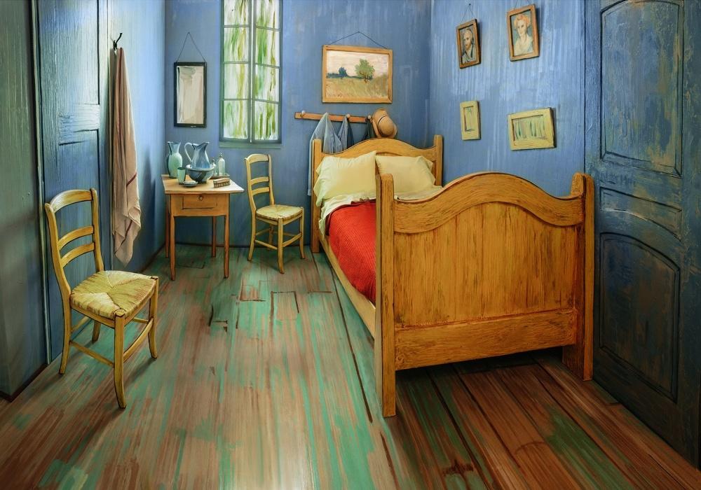 В Чикаго можно снять комнату с интерьером спальни Ван Гога
