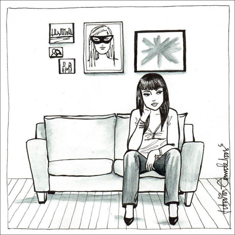 Картинки о женщинах, которые остались одни дома