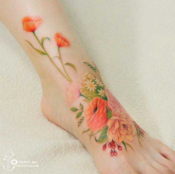 Татуировки в стиле акварельной живописи от тату-мастера Silo