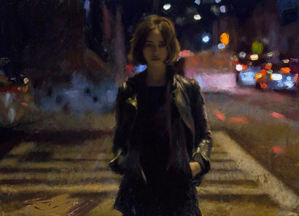 Ночная жизнь в гиперреалистичных картинах Кейси Бо
