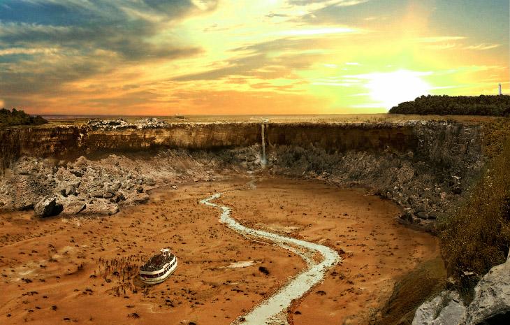 Как будут выглядеть мировые достопримечательности после великой засухи