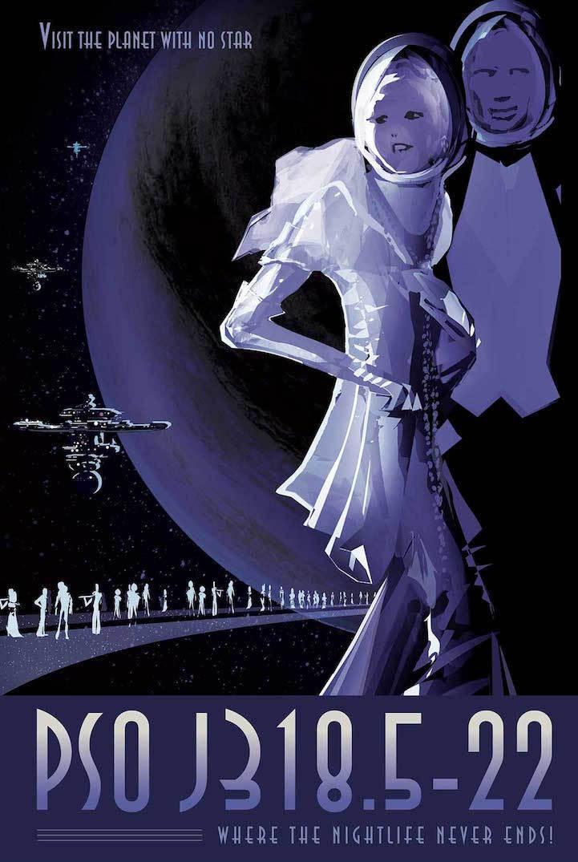 Ретро-плакаты от NASA, которые рекламируют туры на другие планеты