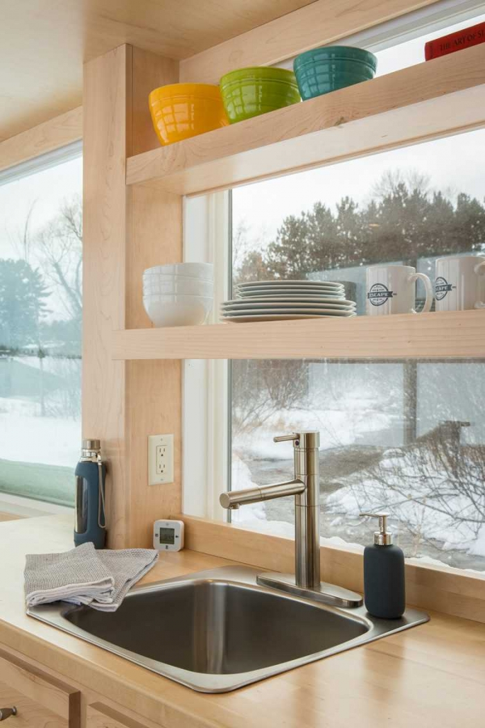 Уютный мобильный домик площадью 15 кв. метров
