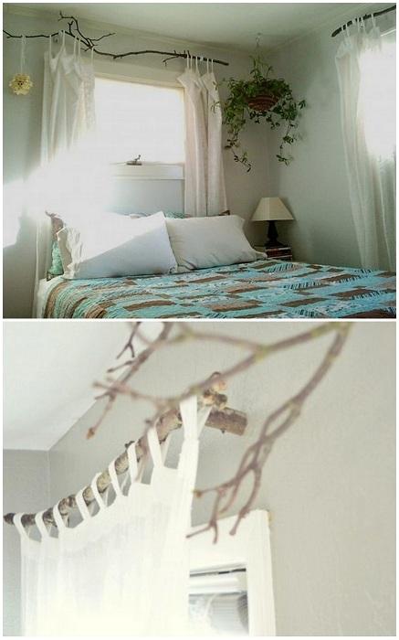 Ветки в интерьере любой комнаты