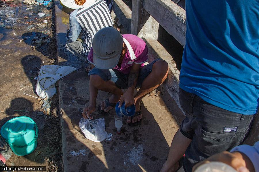 Как вьетнамцы ловят рыбу при помощи пластиковых бутылок