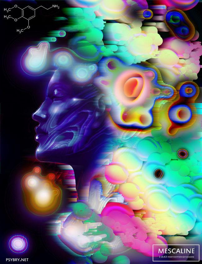 20 разных картин, нарисованных под воздействием разных видов наркотиков