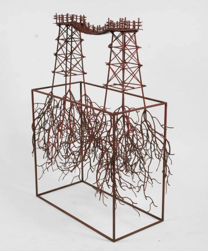 Скульптуры из бронзы и кованых стальных прутьев от Фернандо Суареса Регуэры