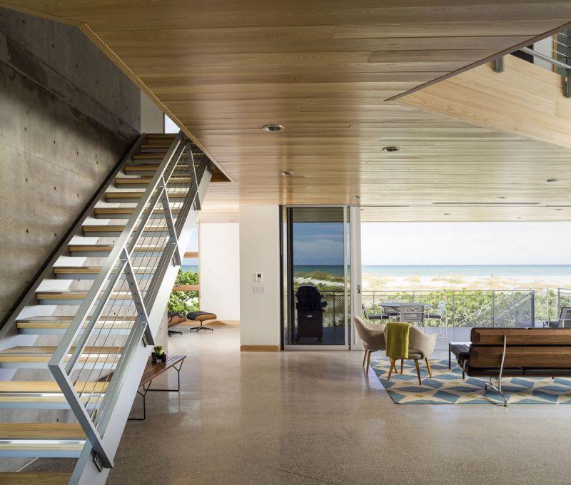 Частный дом Seagrape House на берегу Мексиканского залива во Флориде
