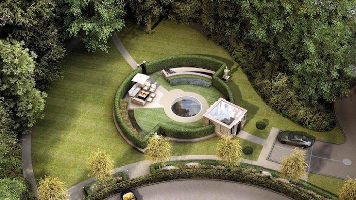 Роскошный и экологичный особняк ниже уровня земли
