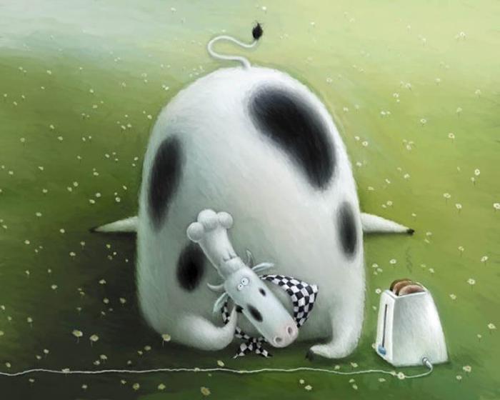 Добрые детские иллюстрации от Роба Скоттона