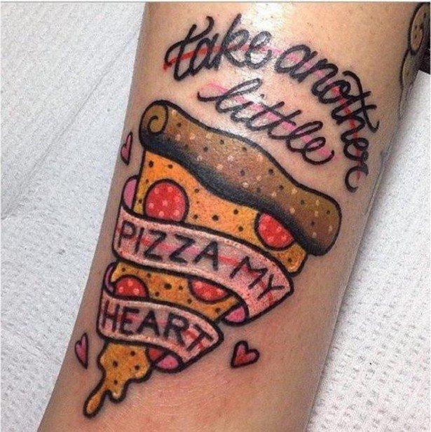 Татуировки для любителей пиццы
