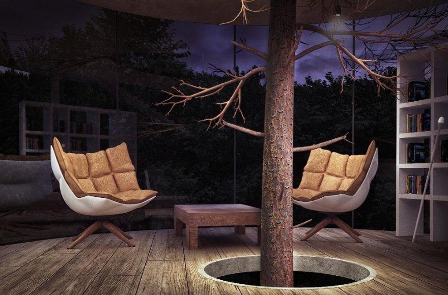 Оригинальный концепт: дерево в доме