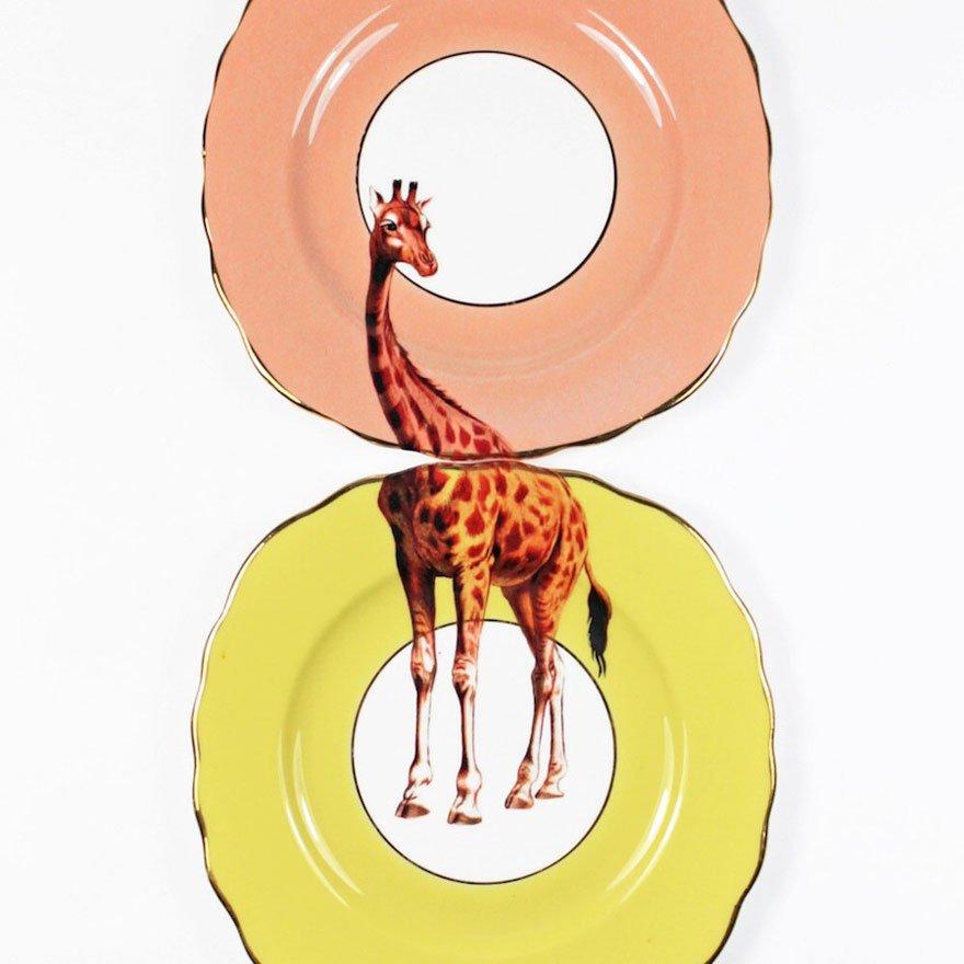 Столовая посуда с животными от Ивонн Эллен