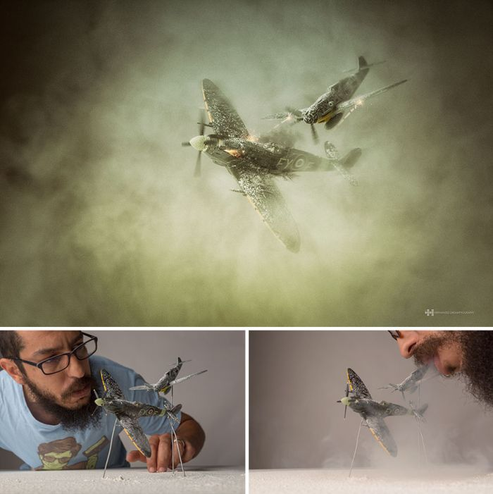 Фантазийные фотографии с детскими игрушками