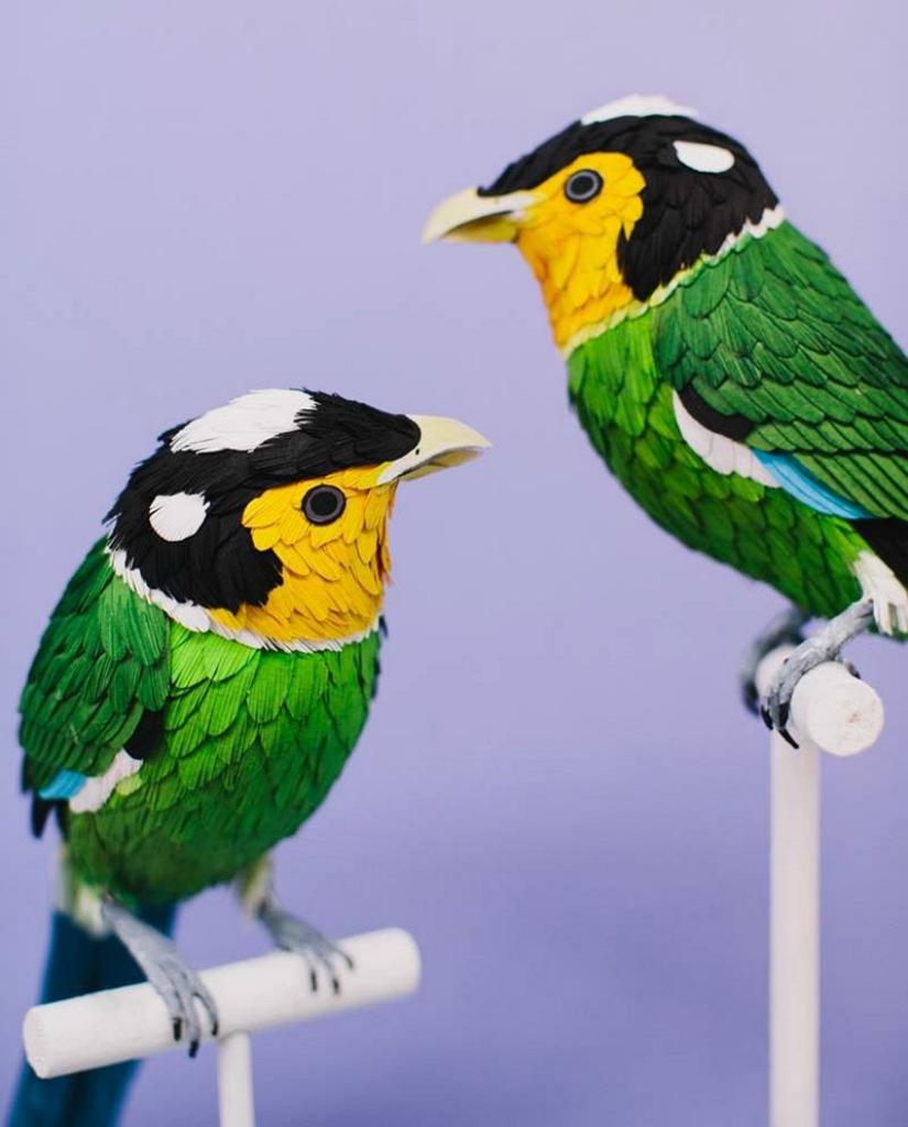 Бумажные птицы от Дианы Бельтран