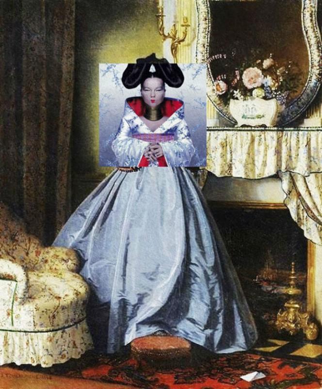 Неожиданное сочетание классической живописи и современных обложек