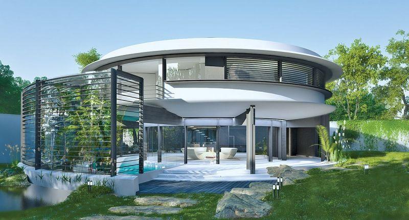 Дом-улитка с энергосберегающими технологиями
