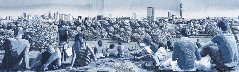 Джинсовые картины от Яна Берри