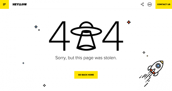 Коллекция оригинальных сообщений об ошибке 404