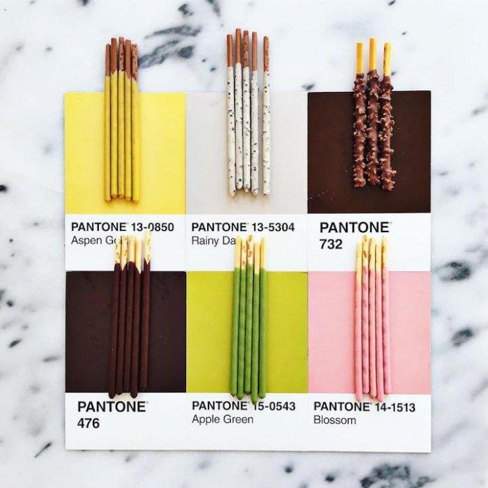 Кулинарный каталог цветов Pantone от Люси Литман
