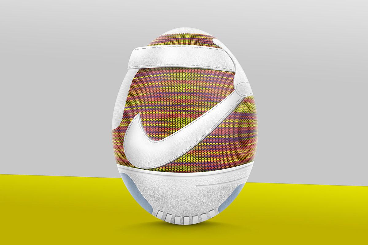 Пасхальные яйца в стиле популярных кроссовок от Ruudios