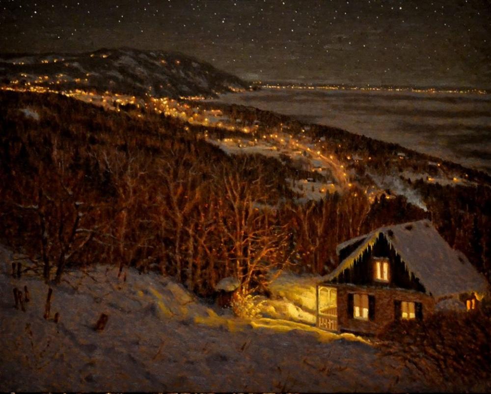 Снежное волшебство на картинах канадского художника Ричарда Савойя