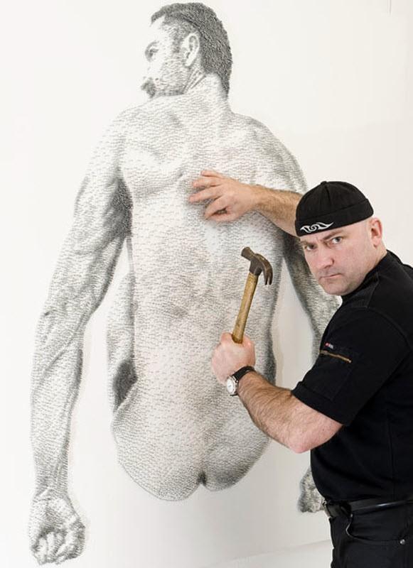 Настоящие произведения искусства из гвоздей