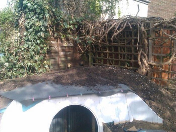 Парень построил жилище хоббита во дворе