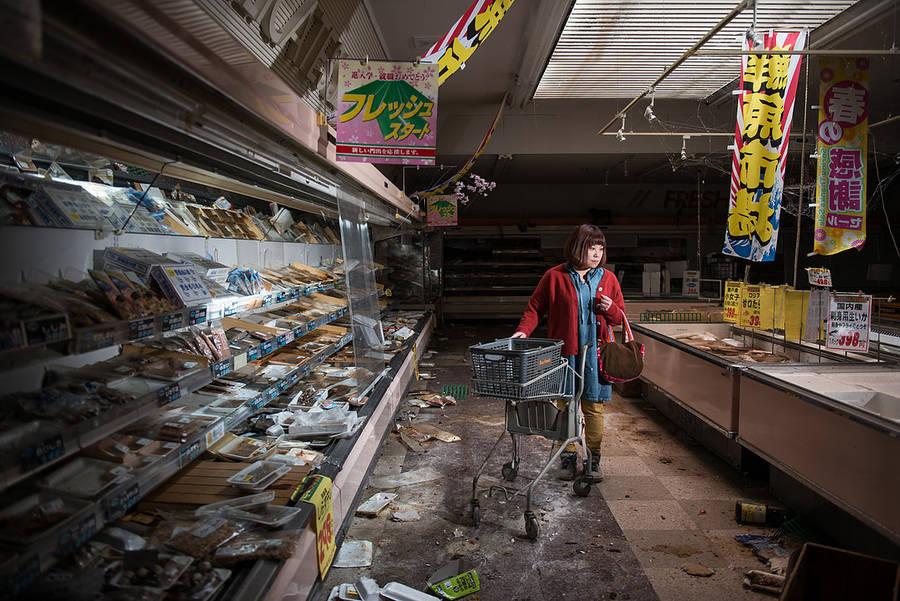 Беженцы из Фукусимы вернулись в свой город-призрак