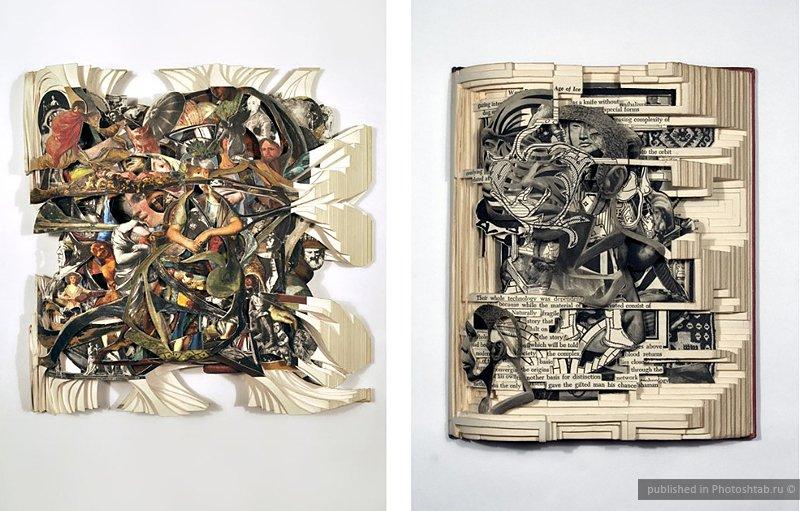 Вырезанные из книг скульптуры от Брайана Деттмера