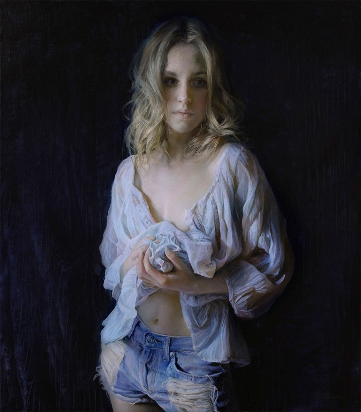 Красота женских форм на гиперреалистичных картинах маслом от Сергея Маршенникова
