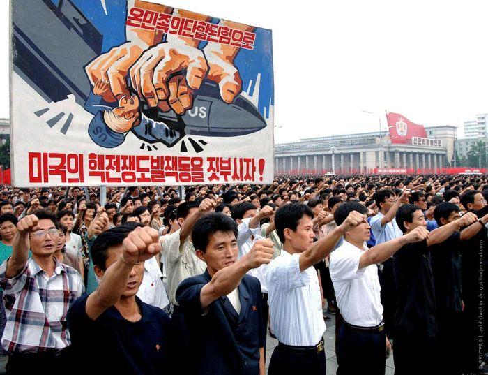 Агитационные плакаты из Северной Кореи