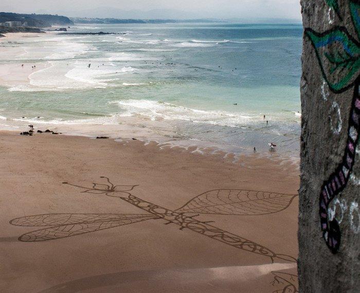 Рисунки на песке от Сэма Дугаду