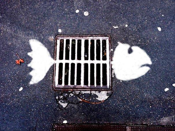 Забавные уличные рисунки, поднимающие настроение