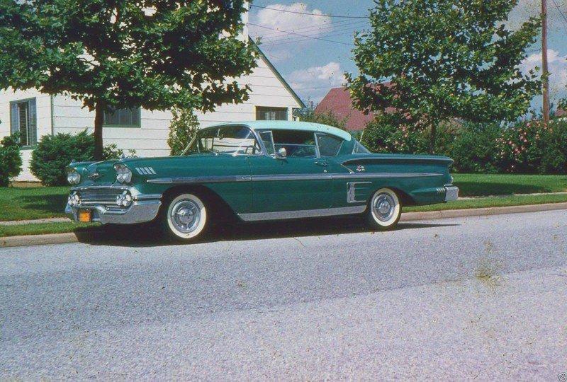 Автомобильное прошлое Америки 40-60-х годов в цвете