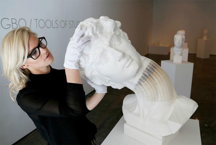 Отвал башки в невероятных скульптурах Ли Хунбо в гифках