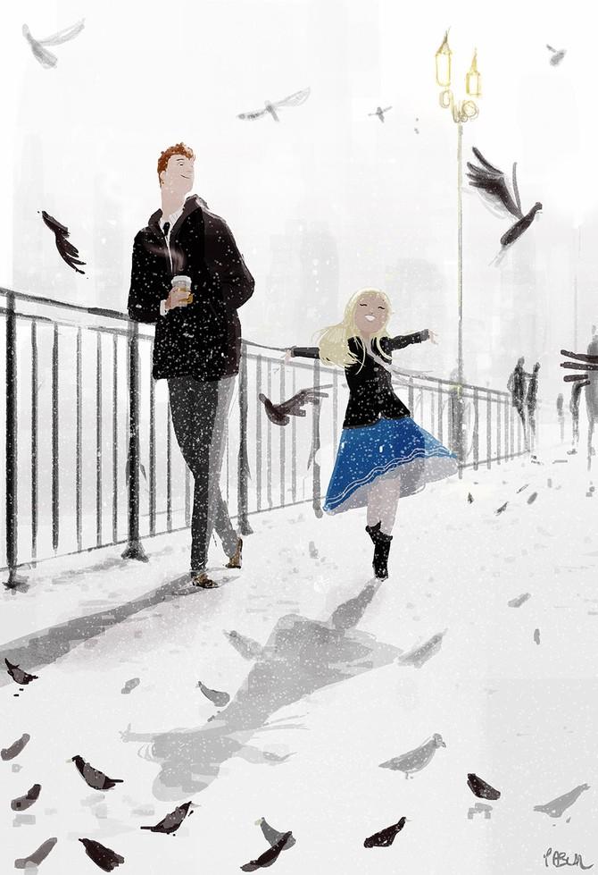 Радость в повседневной жизни от иллюстратора Паскаля Кемпиона