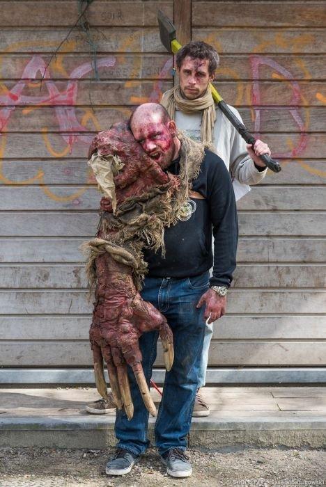 Зомби на улицах Брюсселя