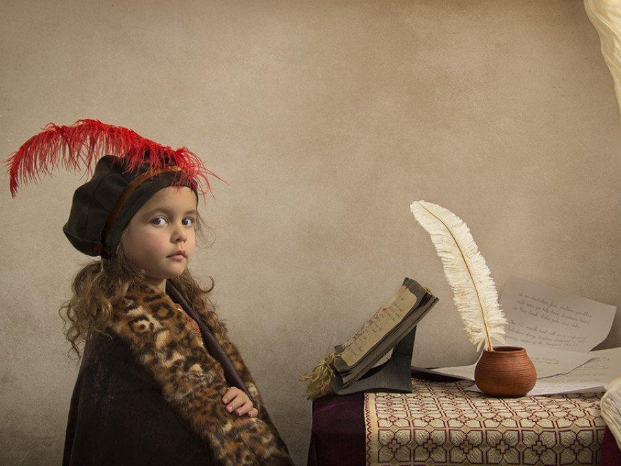 Классические картины с участием 5-летней дочери фотографа