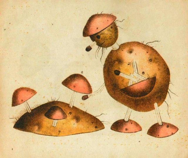 Делаем игрушки из картошки, 1931 год