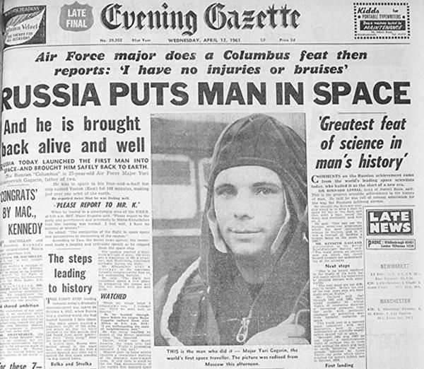 Что писали западные газеты 12 апреля 1961 года