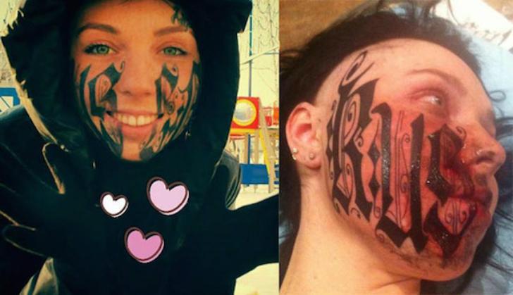 Самые безумные татуировки на лице