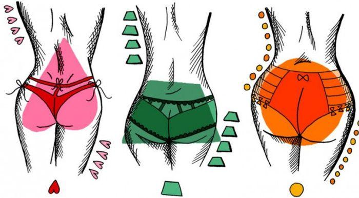 Пять типов женских попок